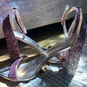 Pink Glitter Open Toe Sandals